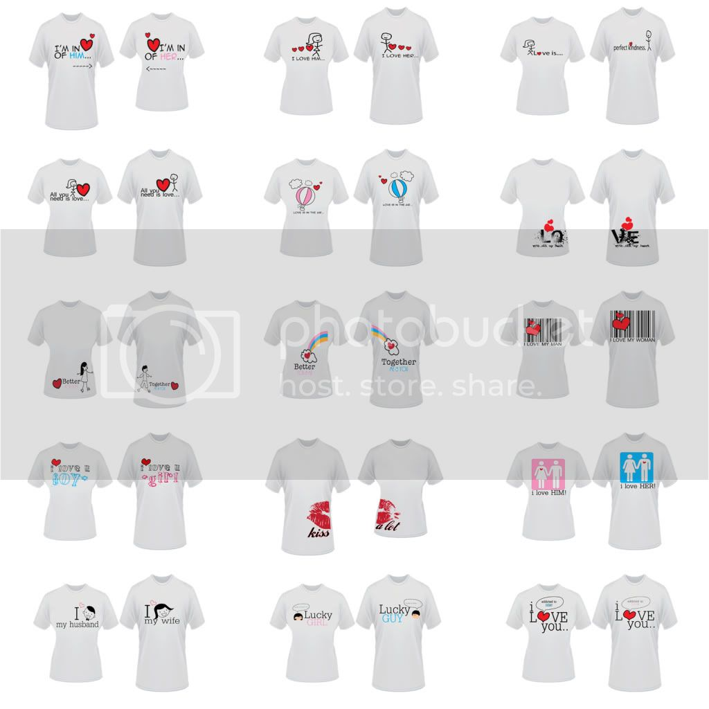Couple Tshirt Templates