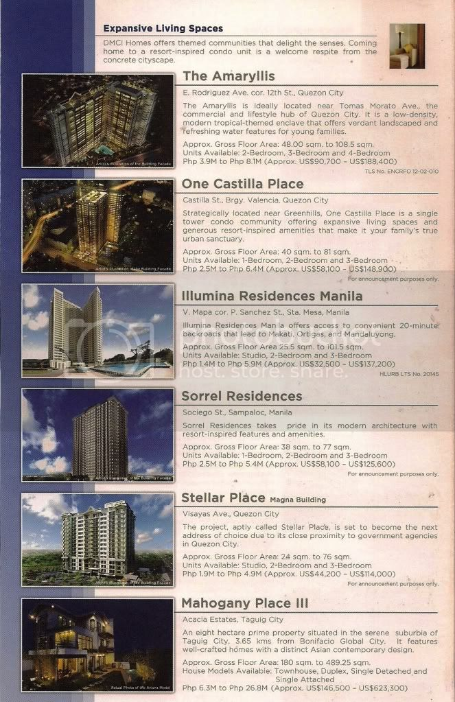 Manila Condominiums, PLease Click on Picture to Enlarge, For INQUIRIES, SITE VISIT, OR QUESTIONS. Feel free to contact;Ms. Maria Bautista, Licensed Real Estate ConsultantYahoo Messenger:  maynilaresidence@yahoo.com                                   http://www.maynilaresidence.yolasite.com